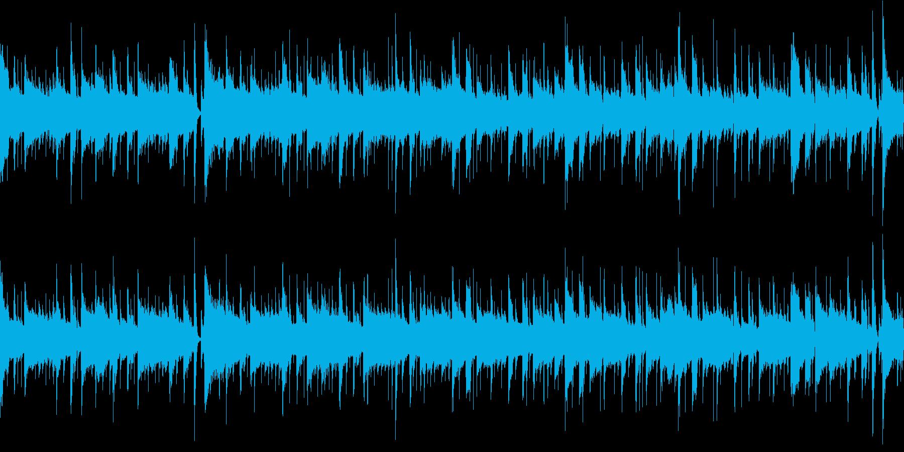 ほのぼのした雰囲気のボサノヴァ曲2の再生済みの波形