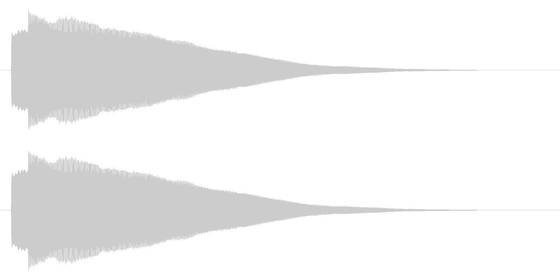 ピコー 決定 選択 セレクト効果音の未再生の波形