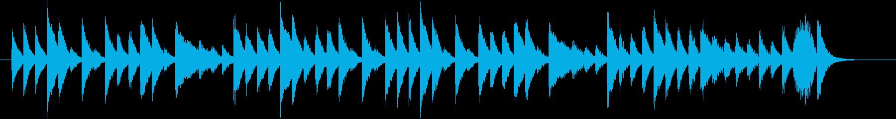 夏らしい弾けるポップなピアノジングルの再生済みの波形