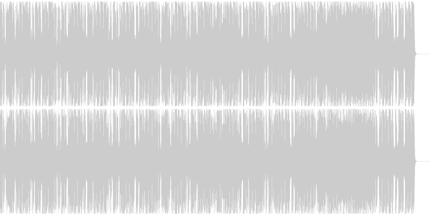 【フューチャーベース】4、ミディアム2の未再生の波形
