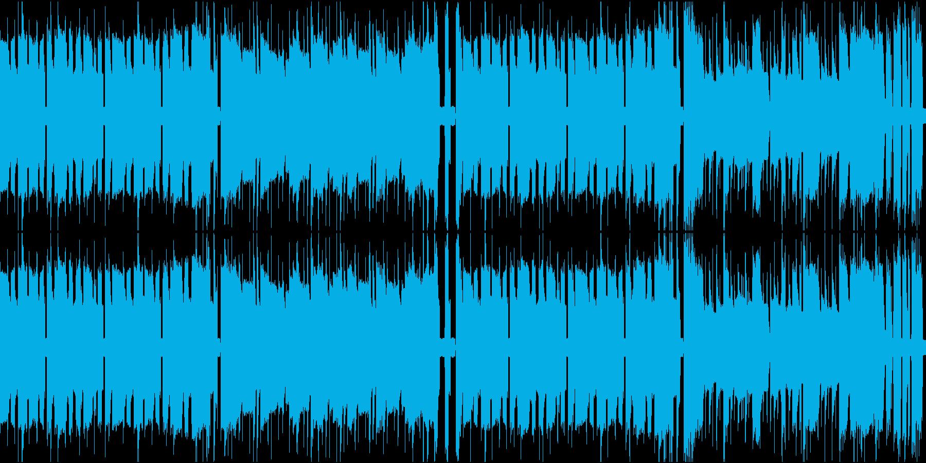 ファミコンのアクションゲームっぽいBGMの再生済みの波形