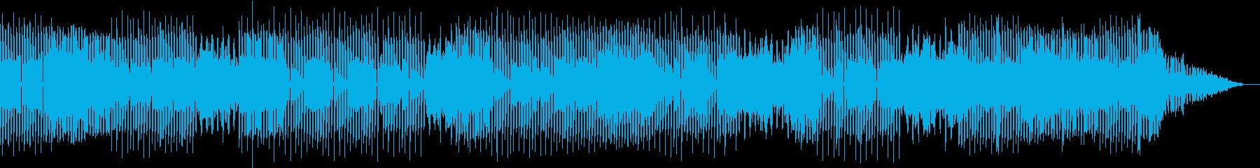 おしゃれな映像音楽の再生済みの波形