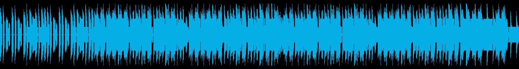 昔ながらのレトロな8bit戦闘BGMの再生済みの波形