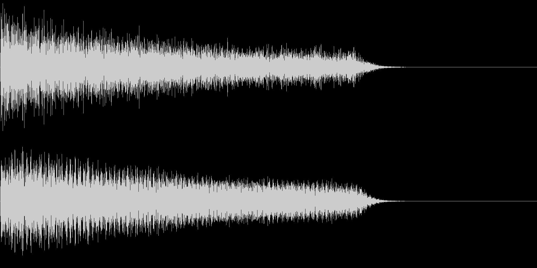 汎用26 ピアノ ガーン ショッキング音の未再生の波形