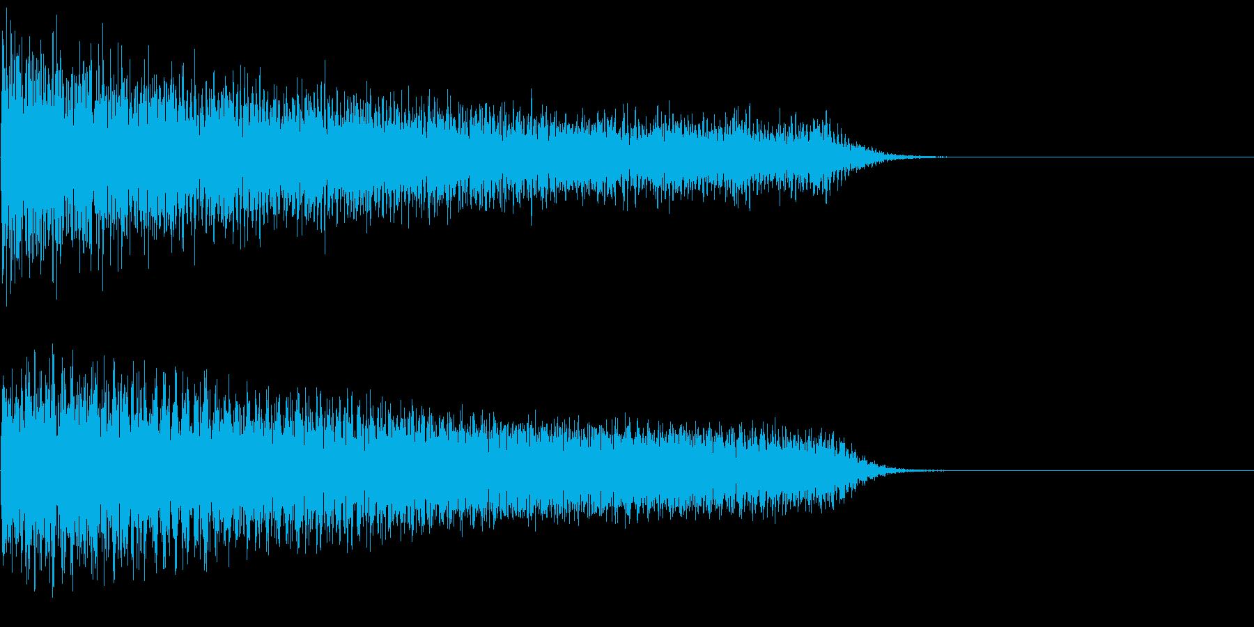 汎用26 ピアノ ガーン ショッキング音の再生済みの波形