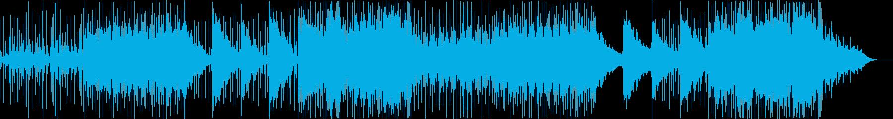 クールでミステリアスなEDM風の曲の再生済みの波形