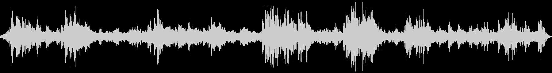 深海遊泳を描写したアンビエント音楽の未再生の波形