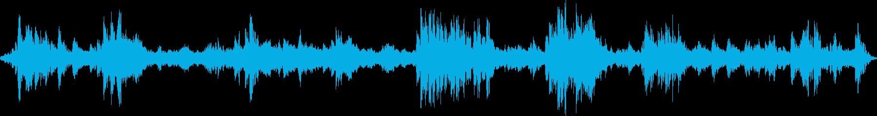 深海遊泳を描写したアンビエント音楽の再生済みの波形