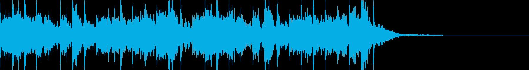 場面転換に使えるオシャレなジングルの再生済みの波形