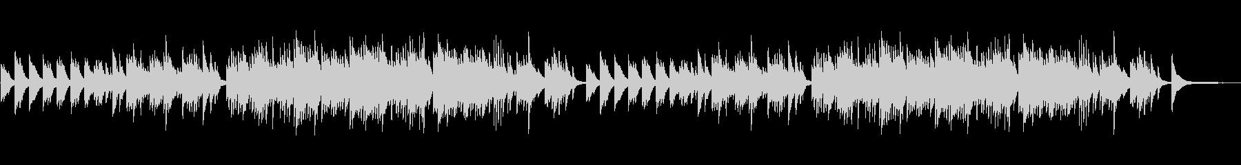 やさしいピアノ曲 テンポ100の未再生の波形