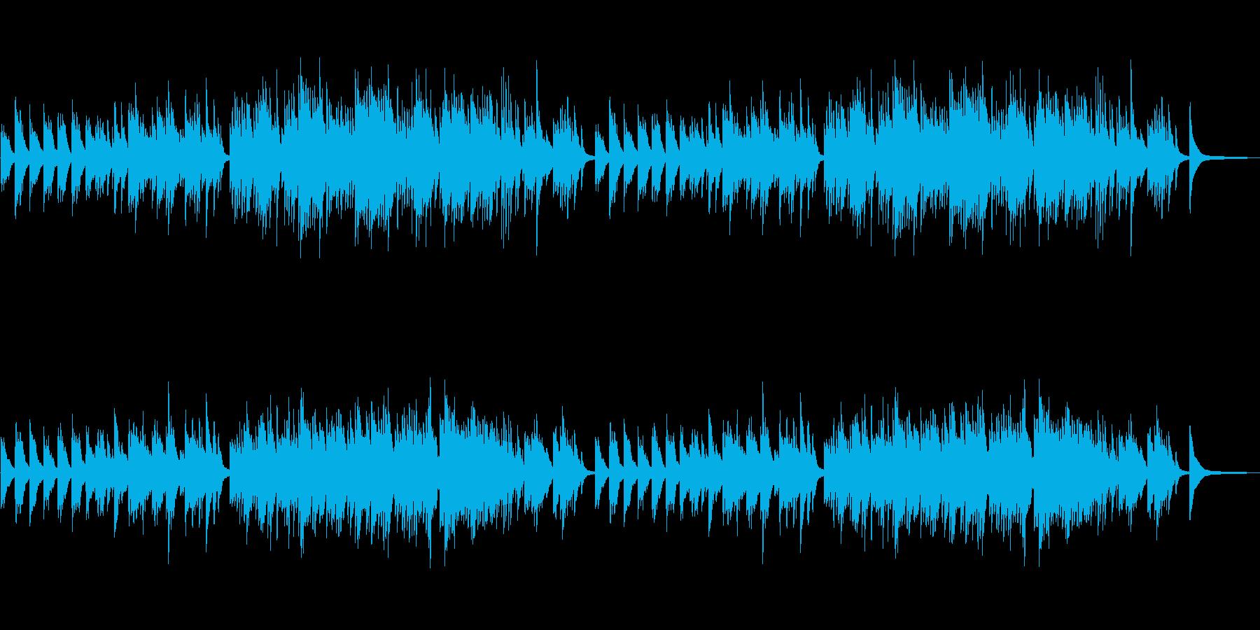 やさしいピアノ曲 テンポ100の再生済みの波形