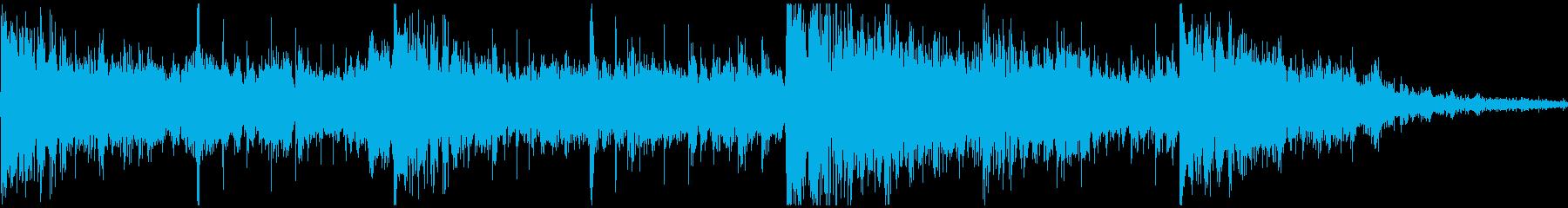 近未来的な電子音楽のジングルの再生済みの波形