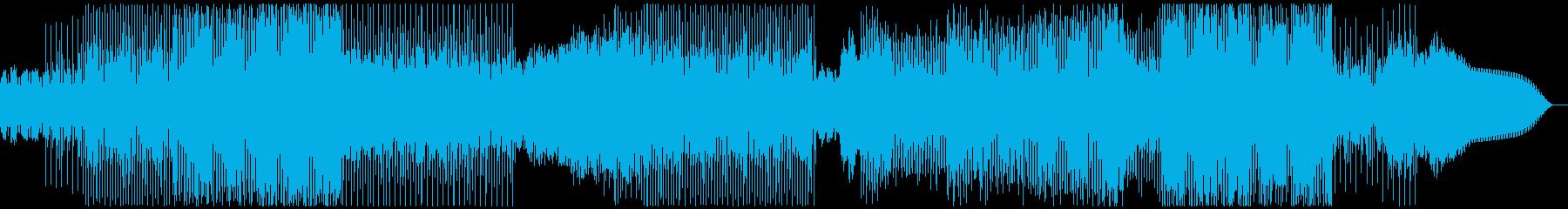 電脳空間、近未来、無機質、電子音楽の再生済みの波形