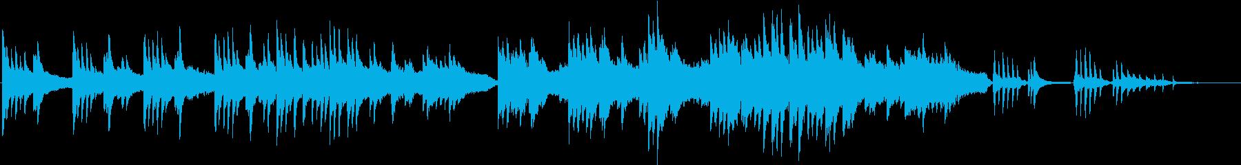 ピアノ、琴、ストリングスの和風バラードの再生済みの波形