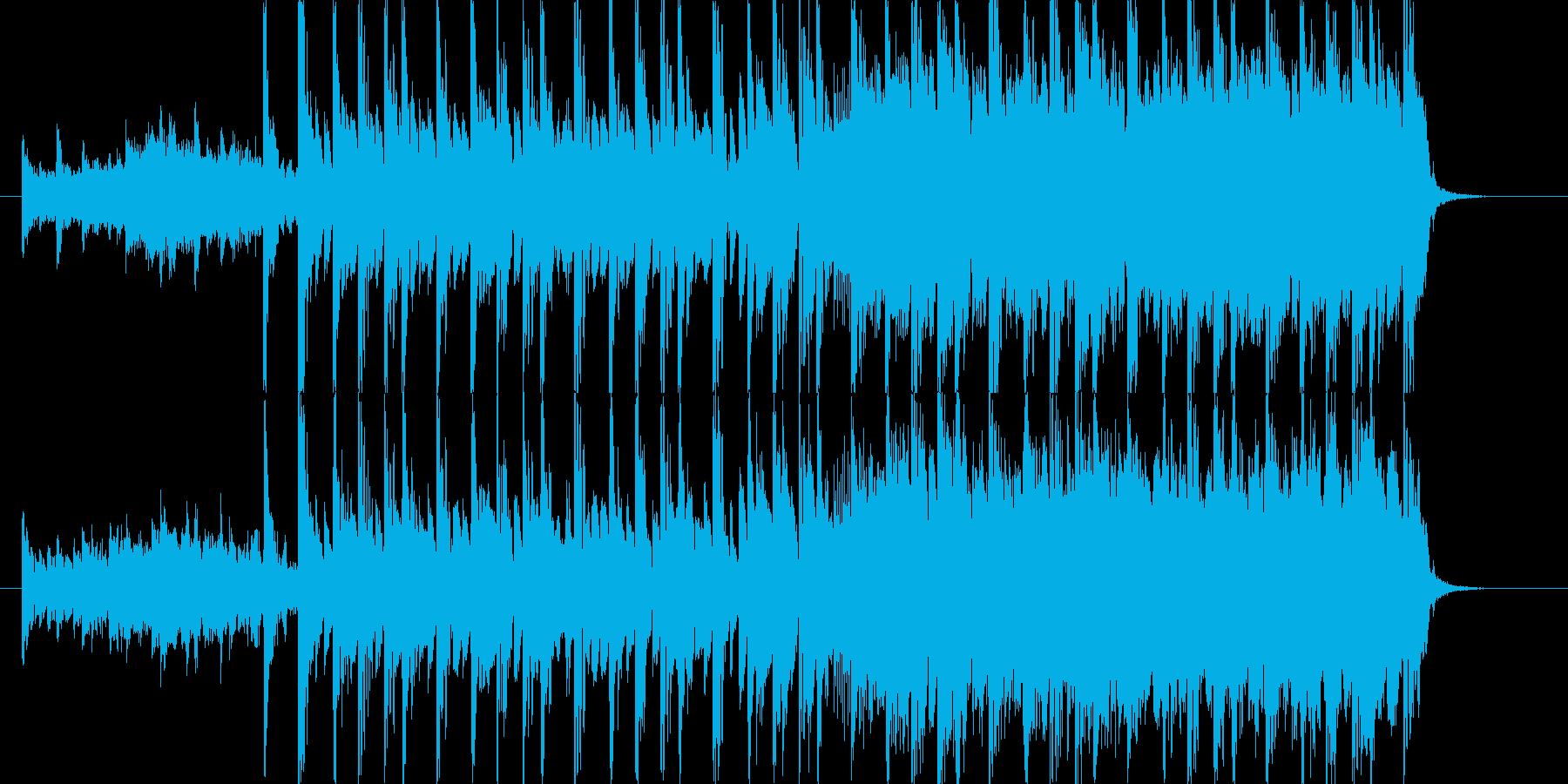 未来的なテクスチャー楽曲の再生済みの波形