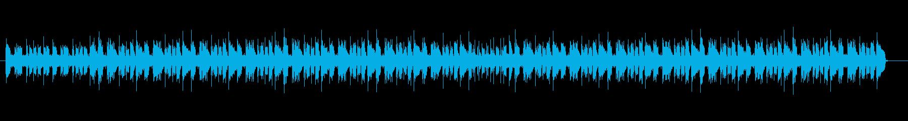 ギター、ベースとドラムマシンのループの再生済みの波形