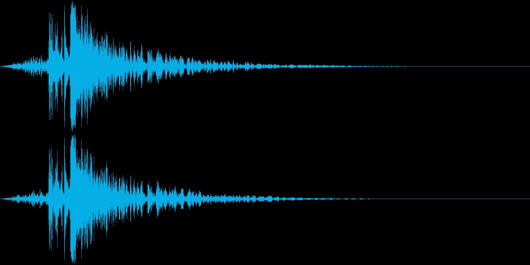【ゲーム】ガンアクション_23 銃発砲の再生済みの波形