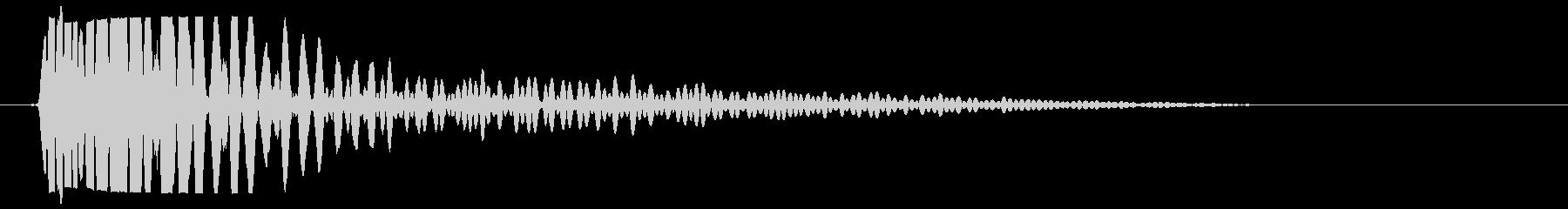 ボンッ(太鼓・ドラムのような音)の未再生の波形