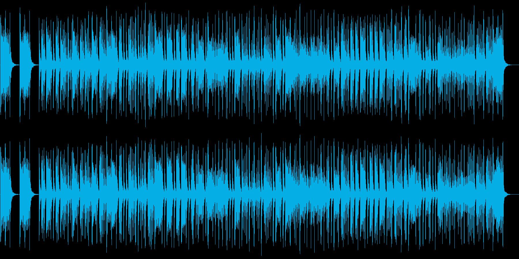 シンプルなマーチングスネアドラムの再生済みの波形
