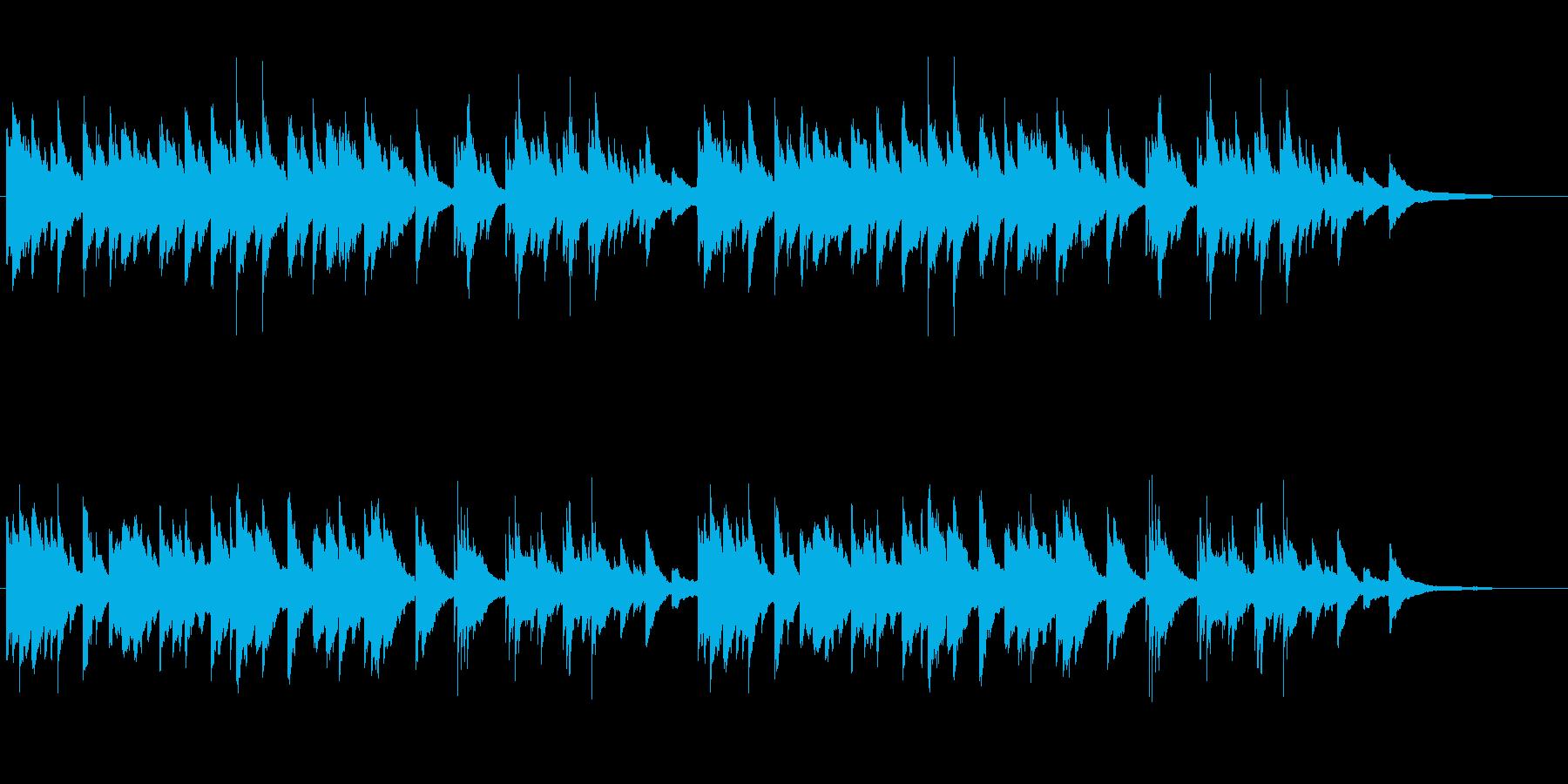様々なシーンに映えるシンプルなピアノ曲の再生済みの波形