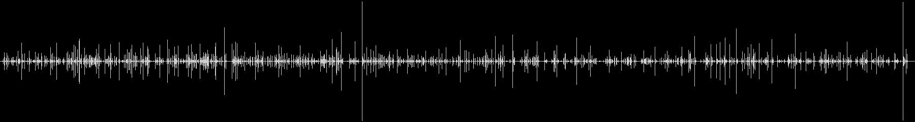 タイピング音(キーボード)1分間の未再生の波形