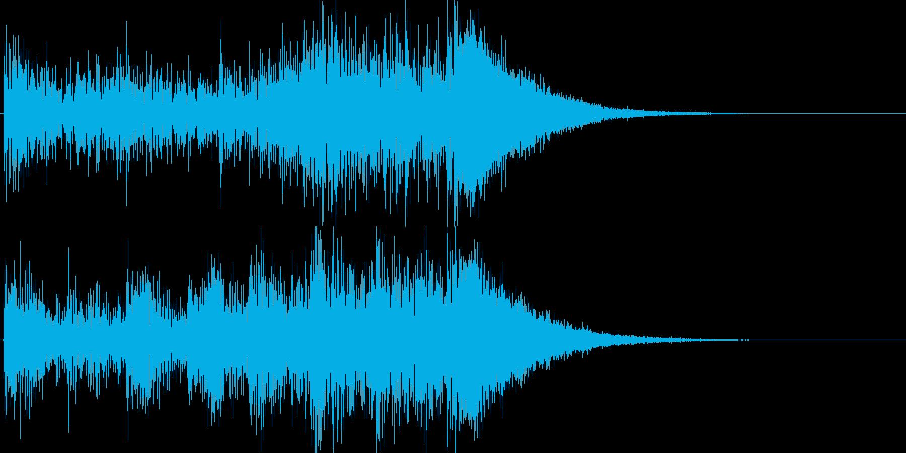 約4秒でシンバルが鳴るドラムロールの再生済みの波形