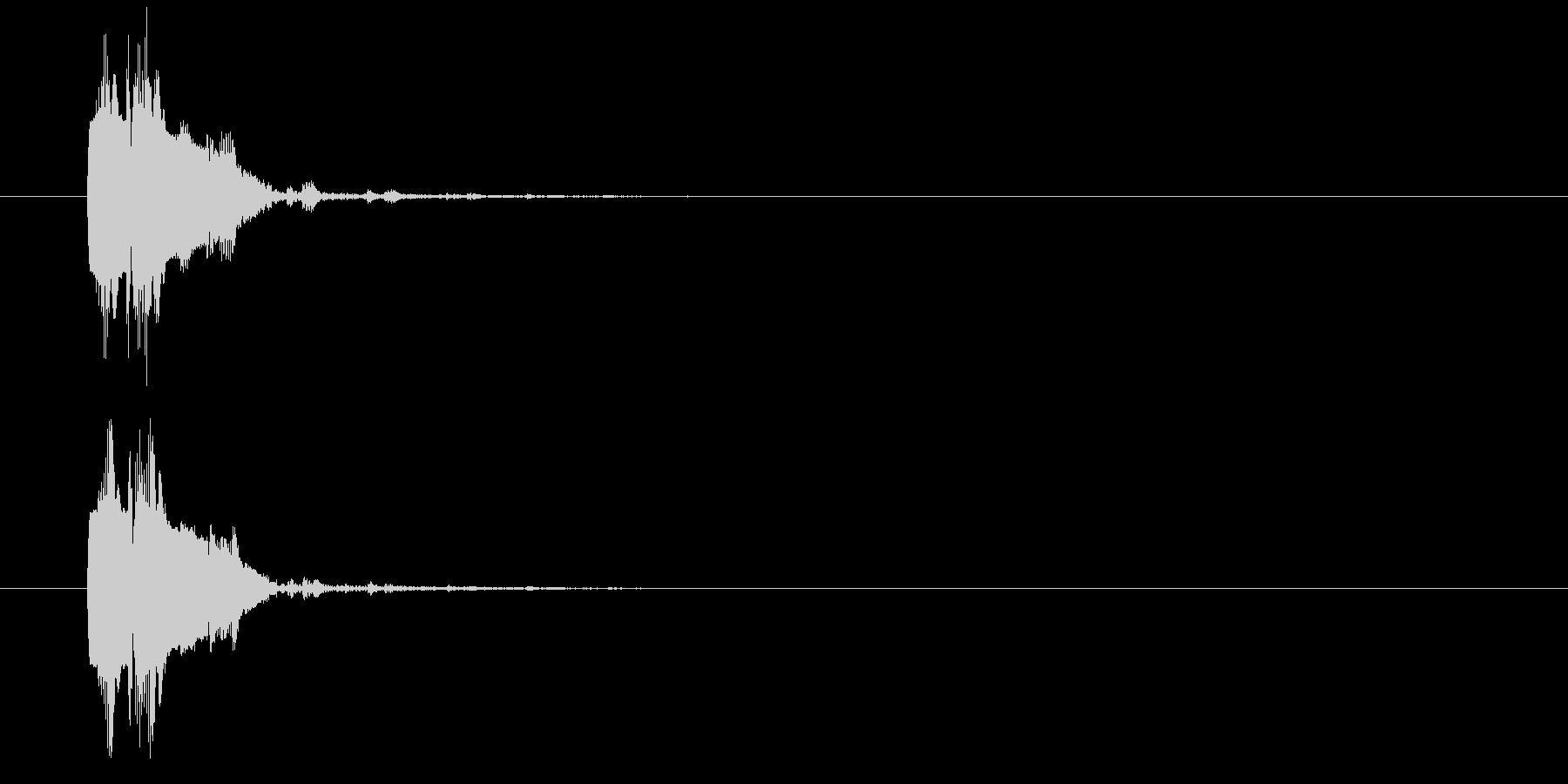 レーザー光線銃-銃声の未再生の波形