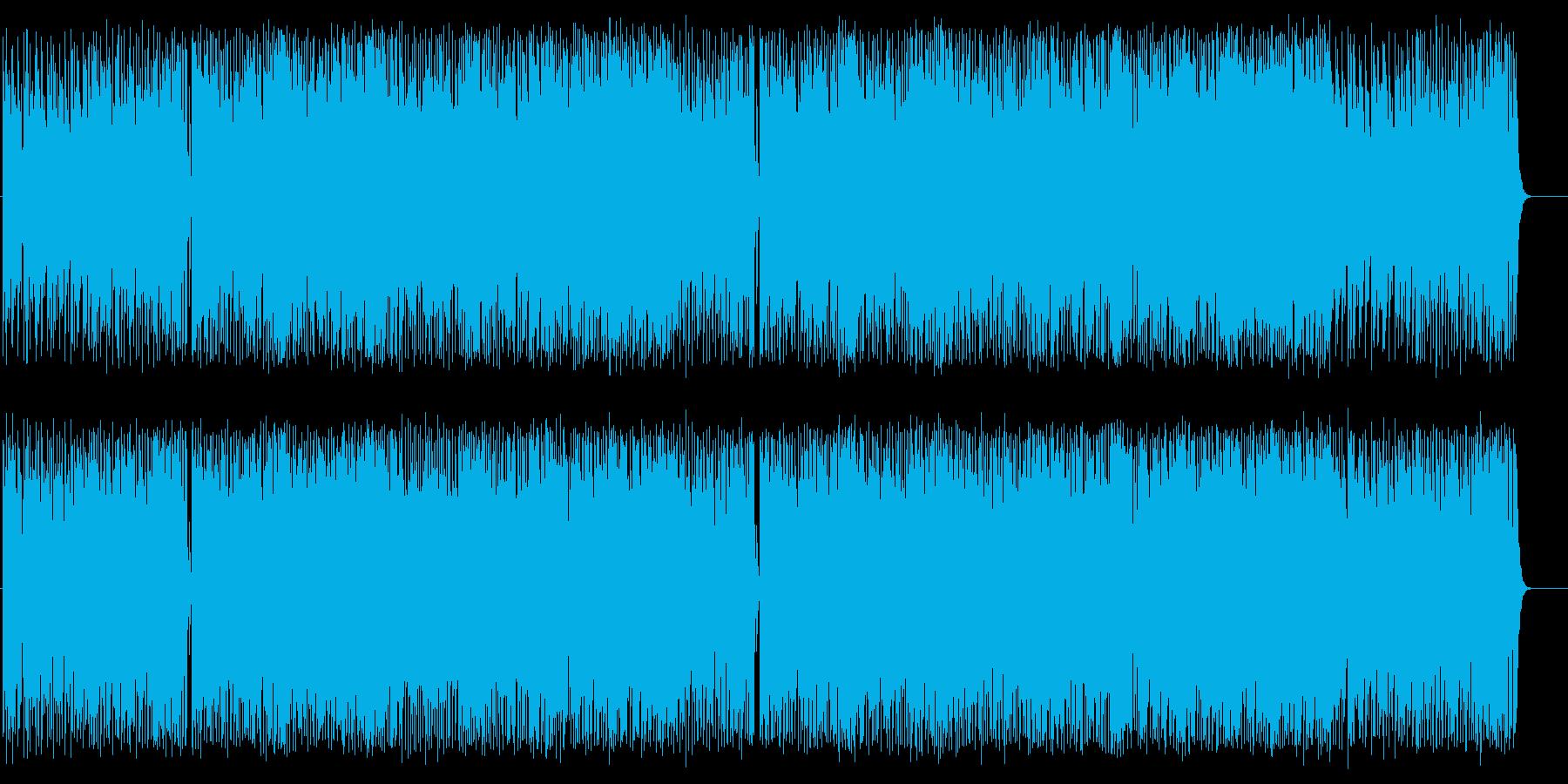 心ウキウキ開放的おおらかポップスの再生済みの波形