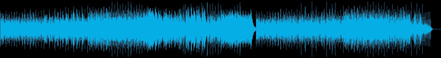 ミステリアスなピアノインストルメントの再生済みの波形