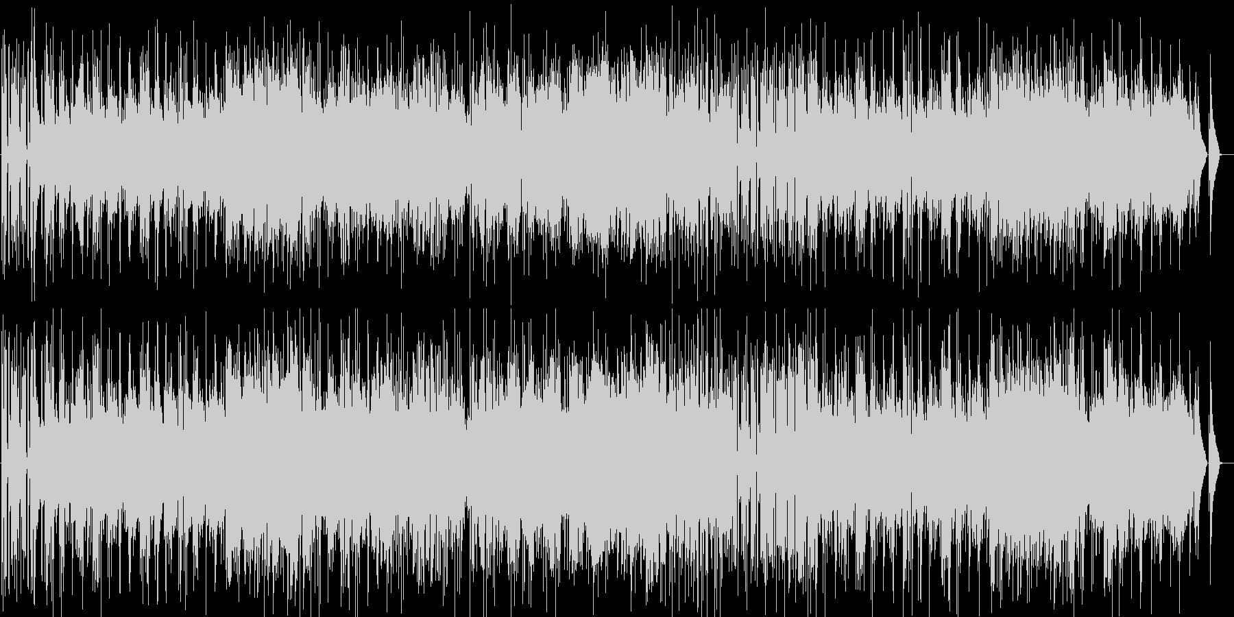 ゆっくり明るいボサノバジャズの曲の未再生の波形