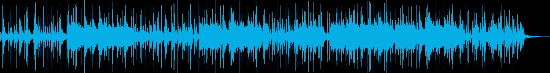 ピアノとサックスな静かなバラードの再生済みの波形