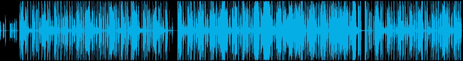 アナログシンセのファンキーなグルーブの再生済みの波形
