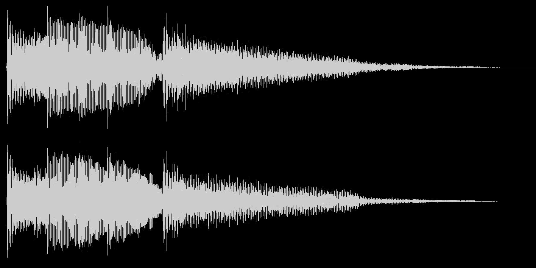ギターの静かな場面転回音7の未再生の波形
