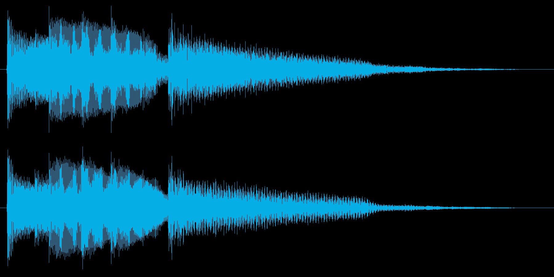 ギターの静かな場面転回音7の再生済みの波形