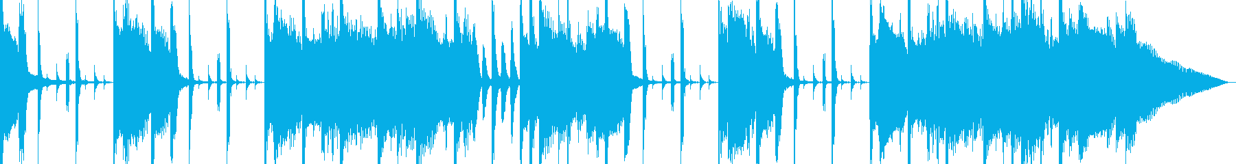 ピアノメイン 落ち着いた雰囲気のAORの再生済みの波形