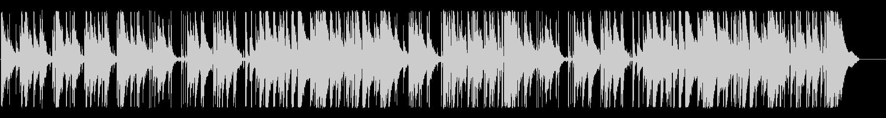 ジャズ、ピアノの未再生の波形