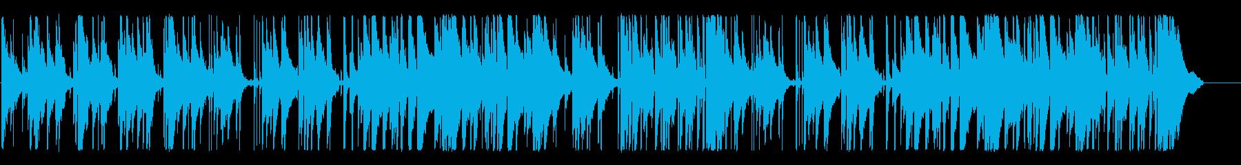 ジャズ、ピアノの再生済みの波形