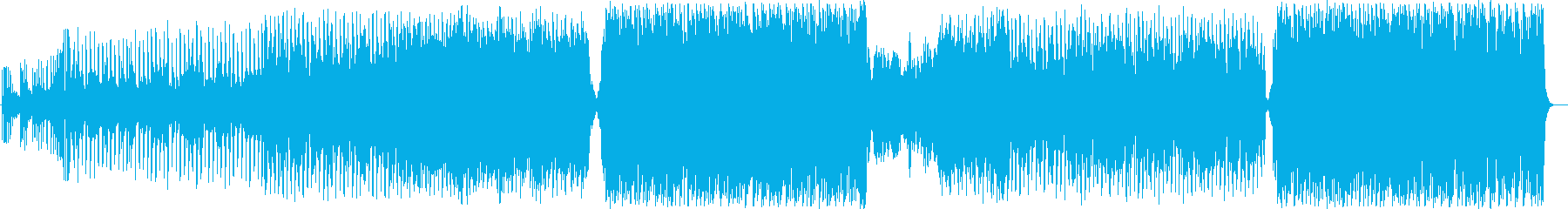 C-POPで暖かい曲の再生済みの波形