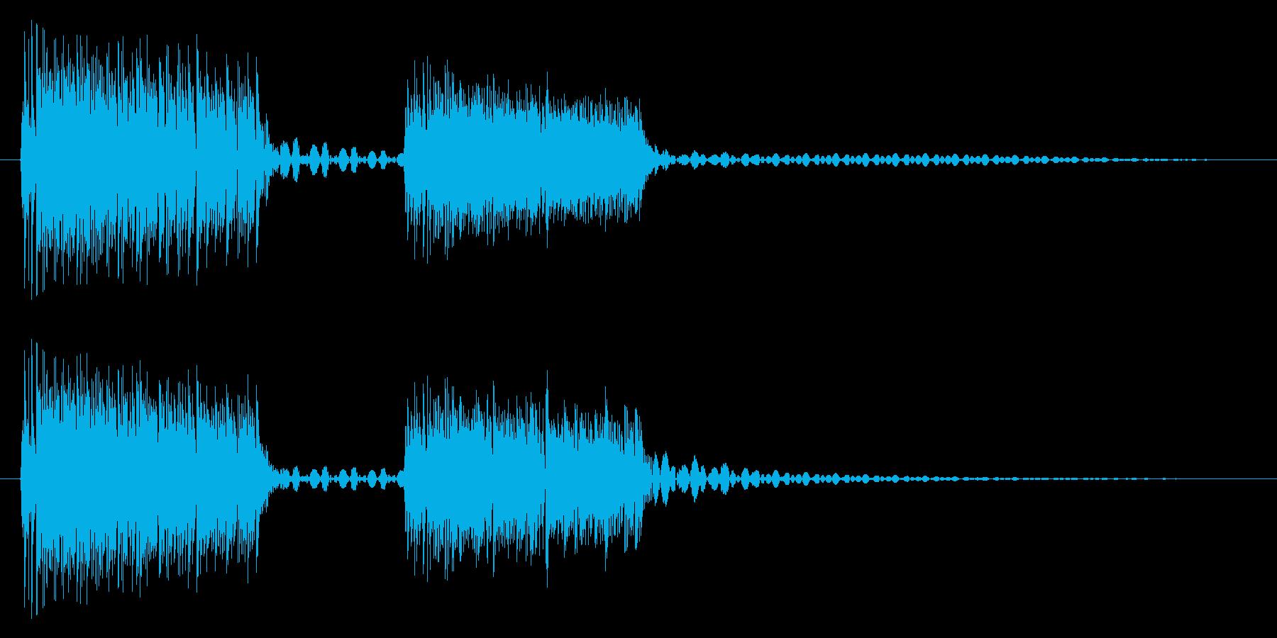ブブッ/間違い/クイズの再生済みの波形