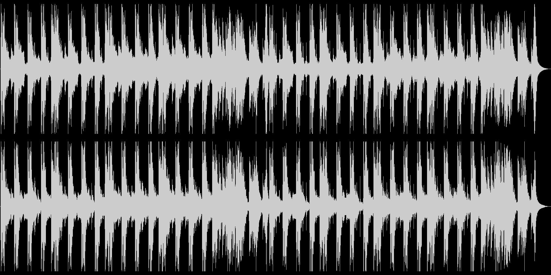 おどろおどろしい怪談的和風楽曲の未再生の波形