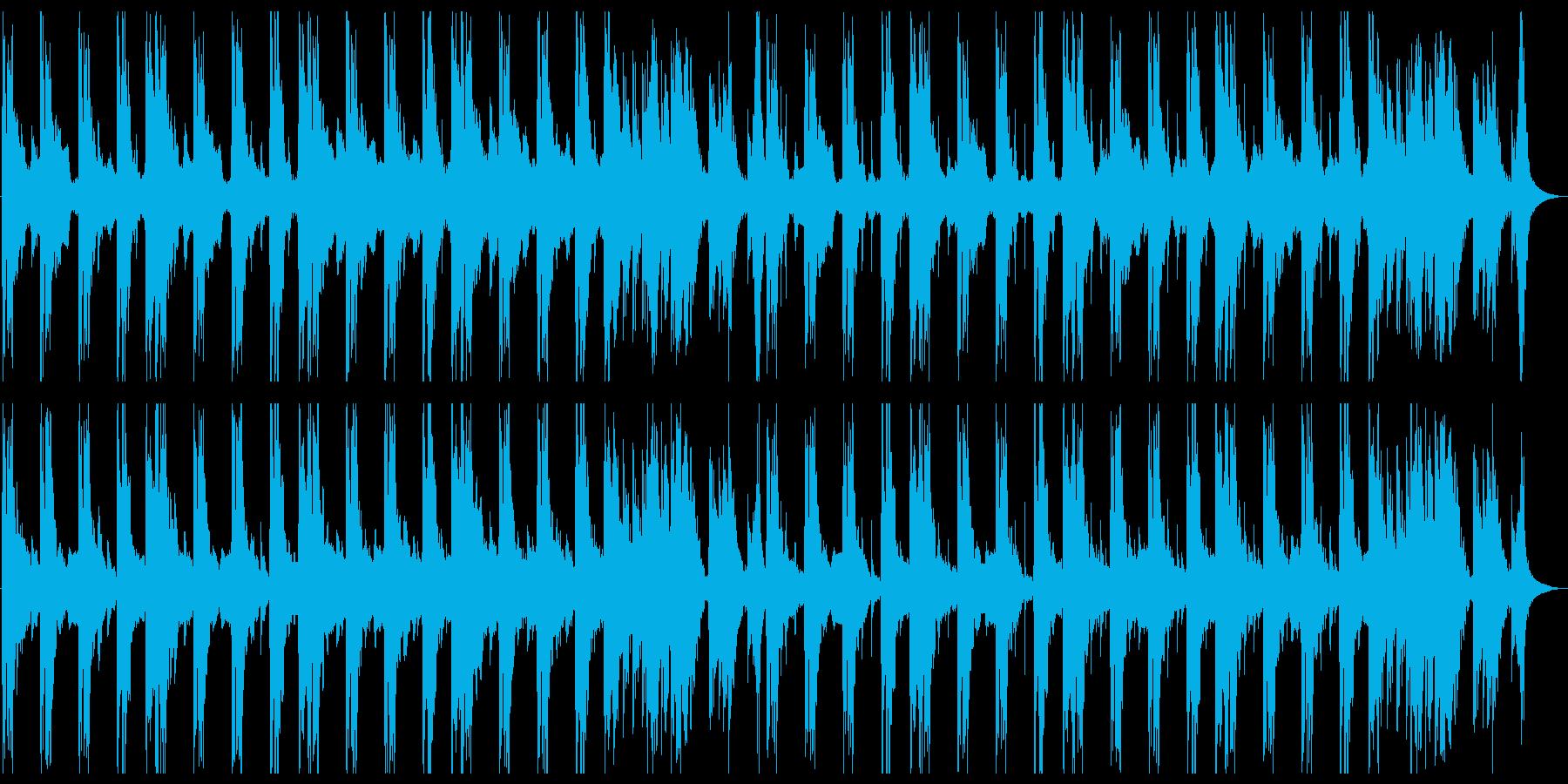 おどろおどろしい怪談的和風楽曲の再生済みの波形
