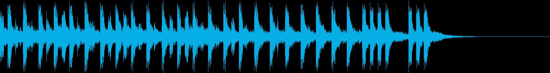 間の抜けた日常を演出する弦楽ピチカートの再生済みの波形