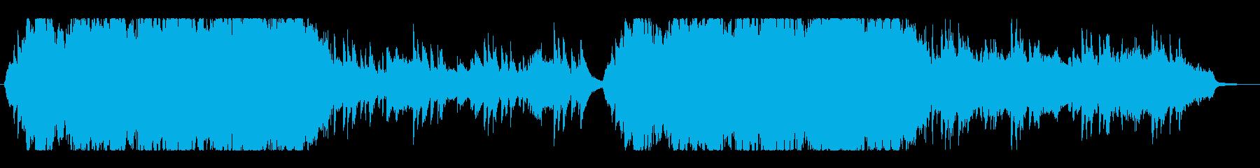 プロ制作による高級感のあるオーケストラ曲の再生済みの波形