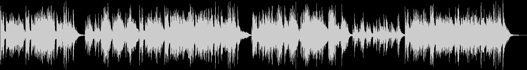 ピアノ演奏による卒業シーンの未再生の波形