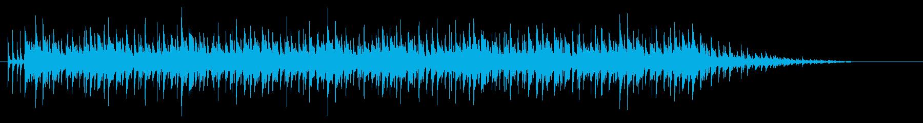 シンセによる大人なシャッフルの再生済みの波形