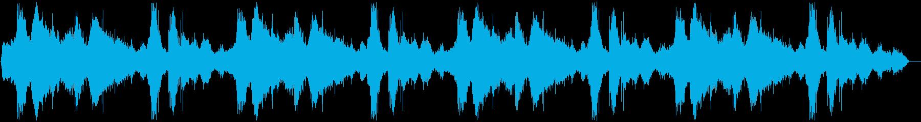 波の音の低音と高音をカットしたローファ…の再生済みの波形
