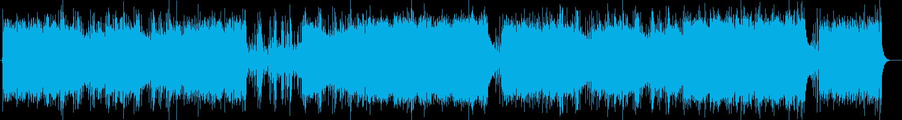 温かみのあるリラクゼーションミュージックの再生済みの波形