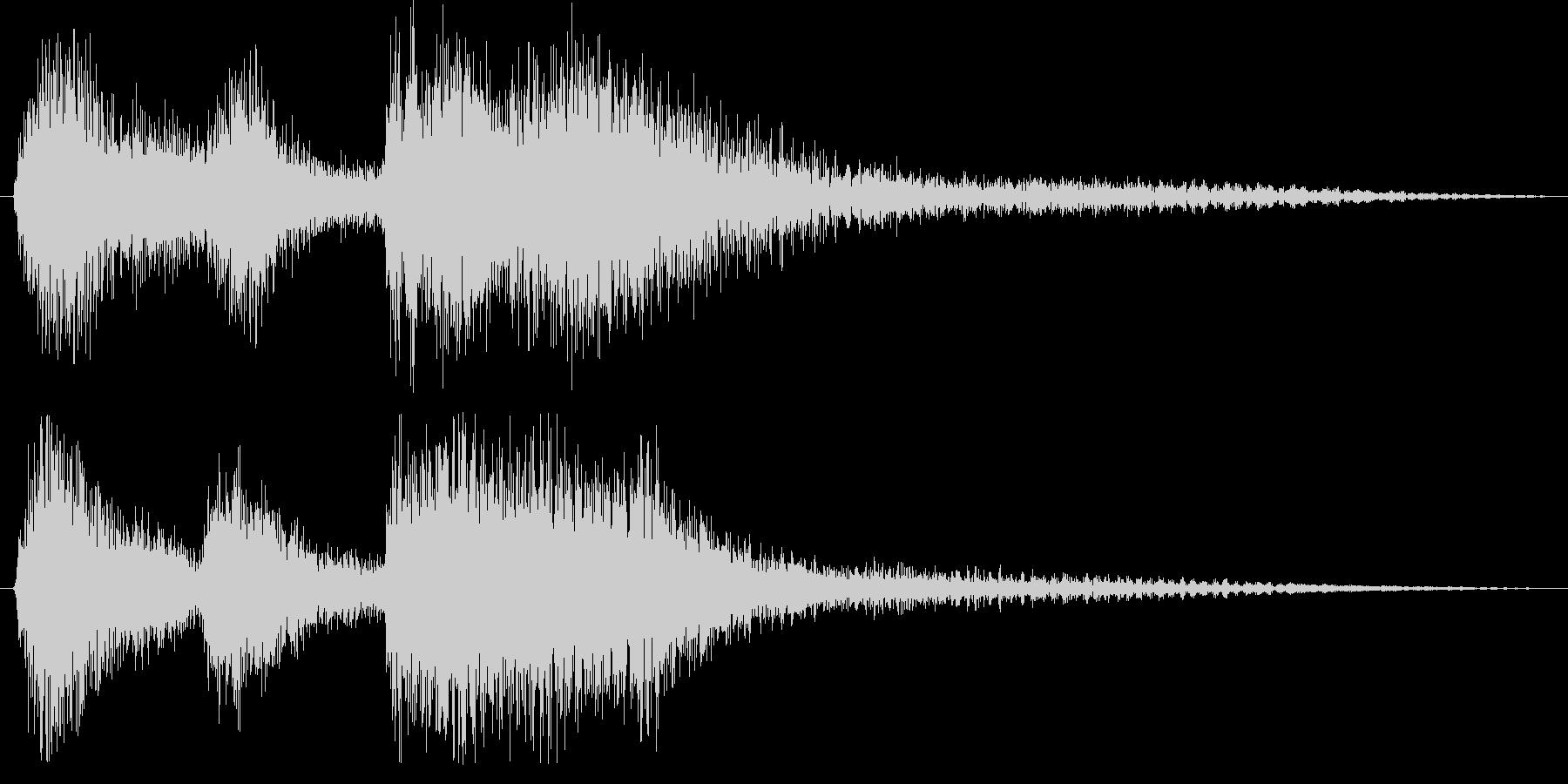 クラシックなイベント達成音ジングル6の未再生の波形