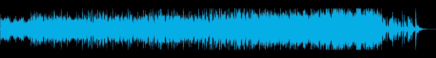 和風で日本的なオーケストラジングルの再生済みの波形
