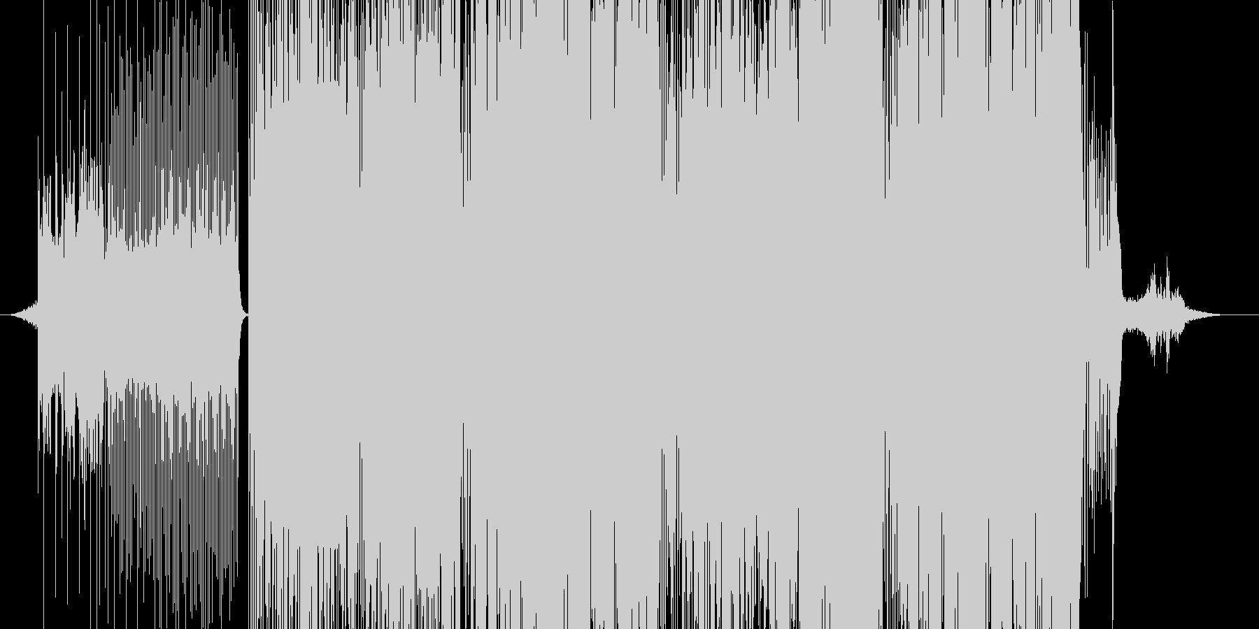 尺八とストリングスのドラムンベースの未再生の波形
